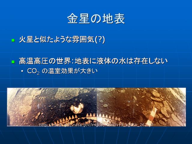 惑星気象学 地球・火星・金星の気象 金星の地表